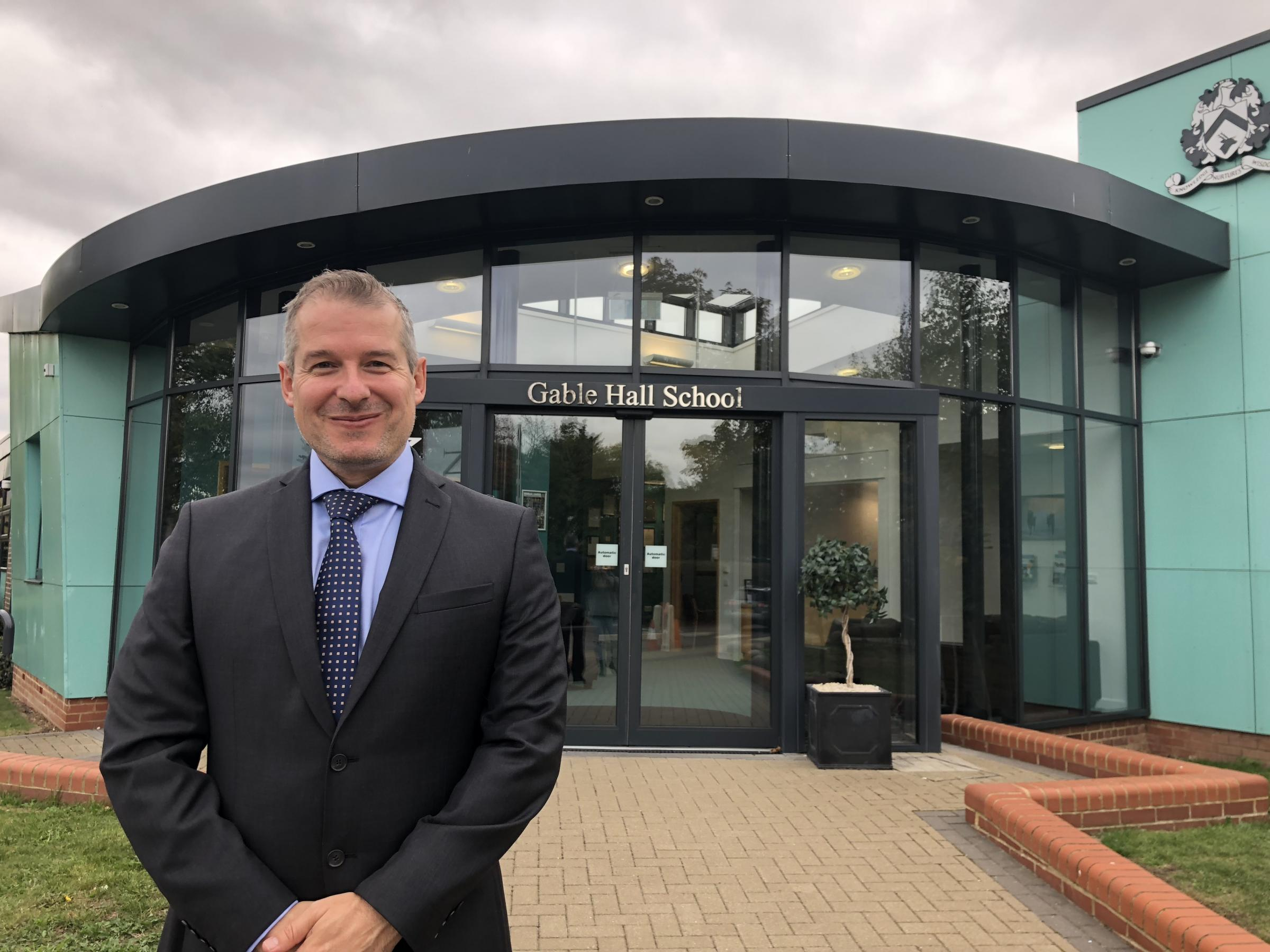 New boss - Ceri Evans has taken charge at Ortu Gable Hall in Corringham
