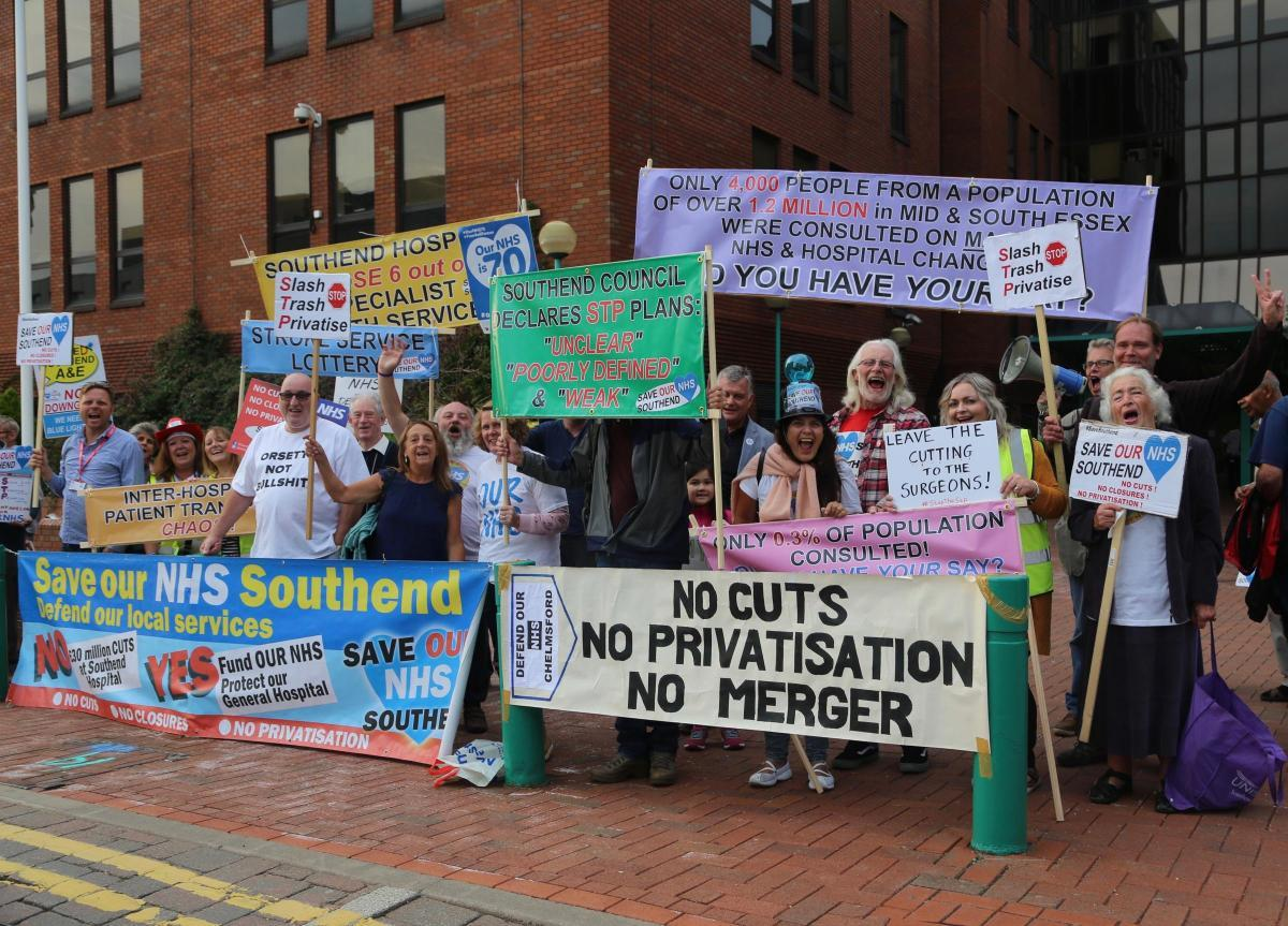 Protesting against change - Save Southend NHS want services to remain in Southend
