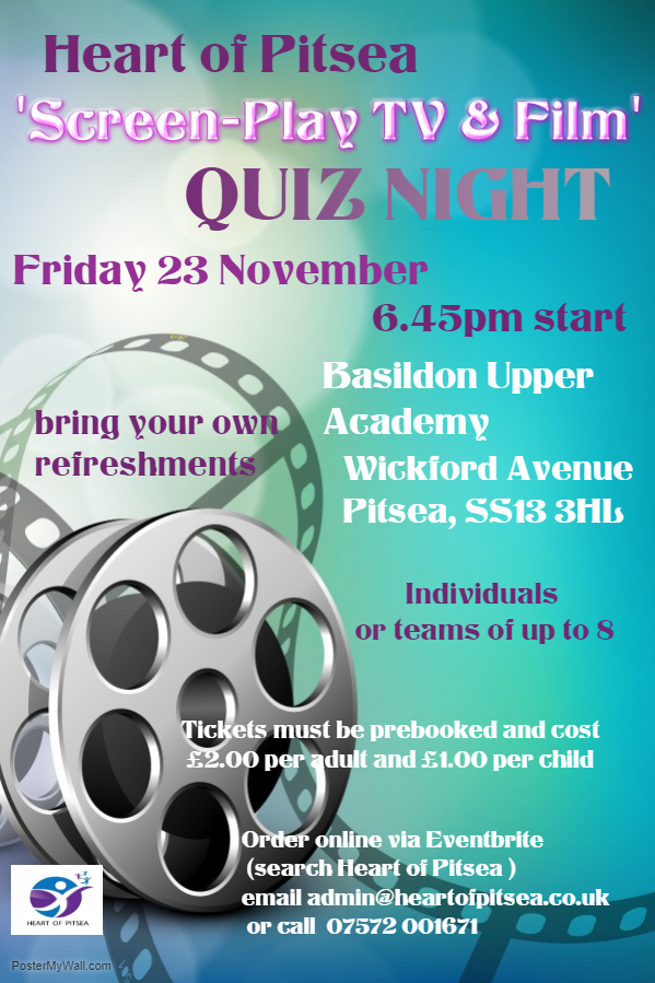 Heart of Pitsea Screen-Play, TV & Film Quiz NIght