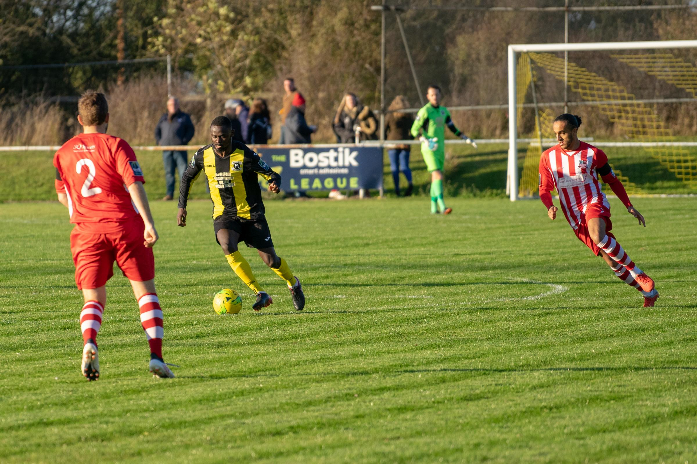 Aiming to enjoy an away win - Basildon United's Fahad Nyanja Picture: AL UNDERWOOD