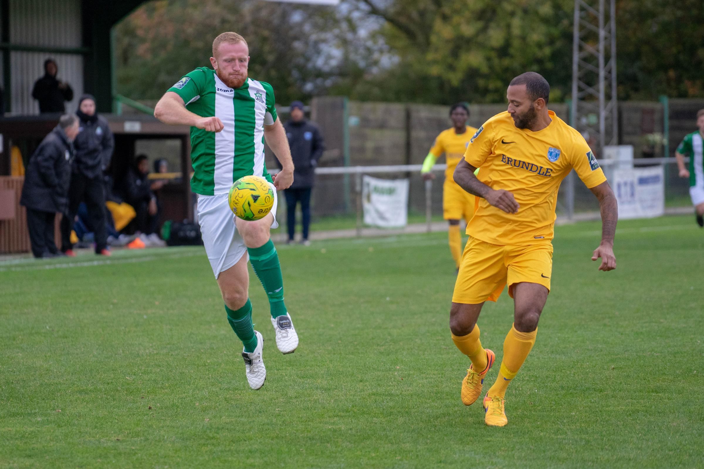 Winner - Adam Vyse, who joined from Great Wakering Rovers earlier this month, struck