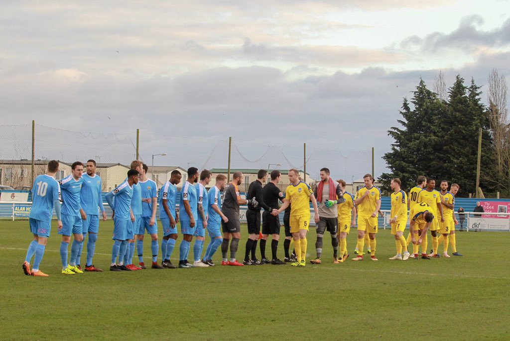 Ready for action - Concord Rangers and East Thurrock United got 2019 underway with a local derby at the Aspect Arena Picture: PAUL RAFFETY