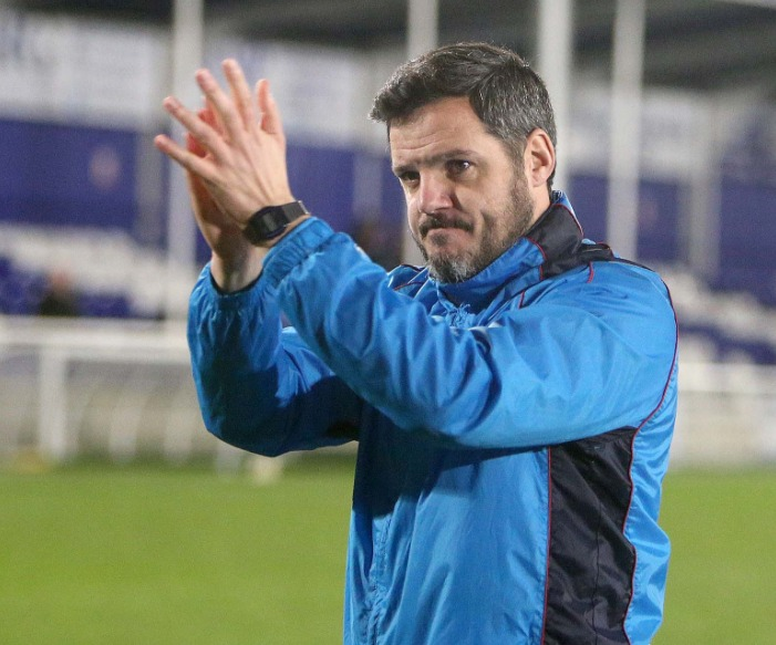 Pleased with his latest signings - Billericay Town boss Dean Brennan Picture: NICKY HAYES