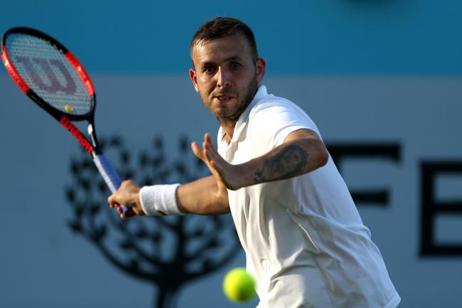 Dan Evans battled into the final round of qualifying in Melbourne