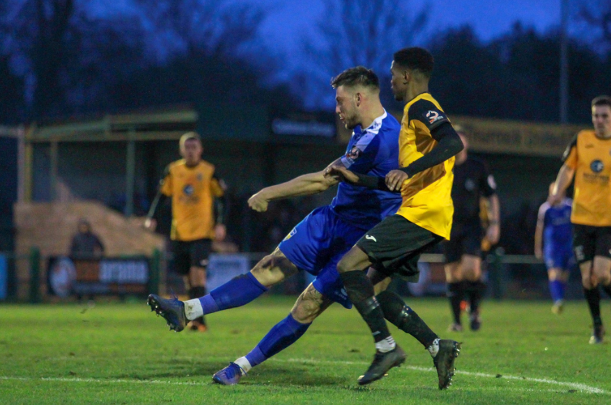 At the double - Concord Rangers' Alex Wall Picture: PAUL RAFFETY