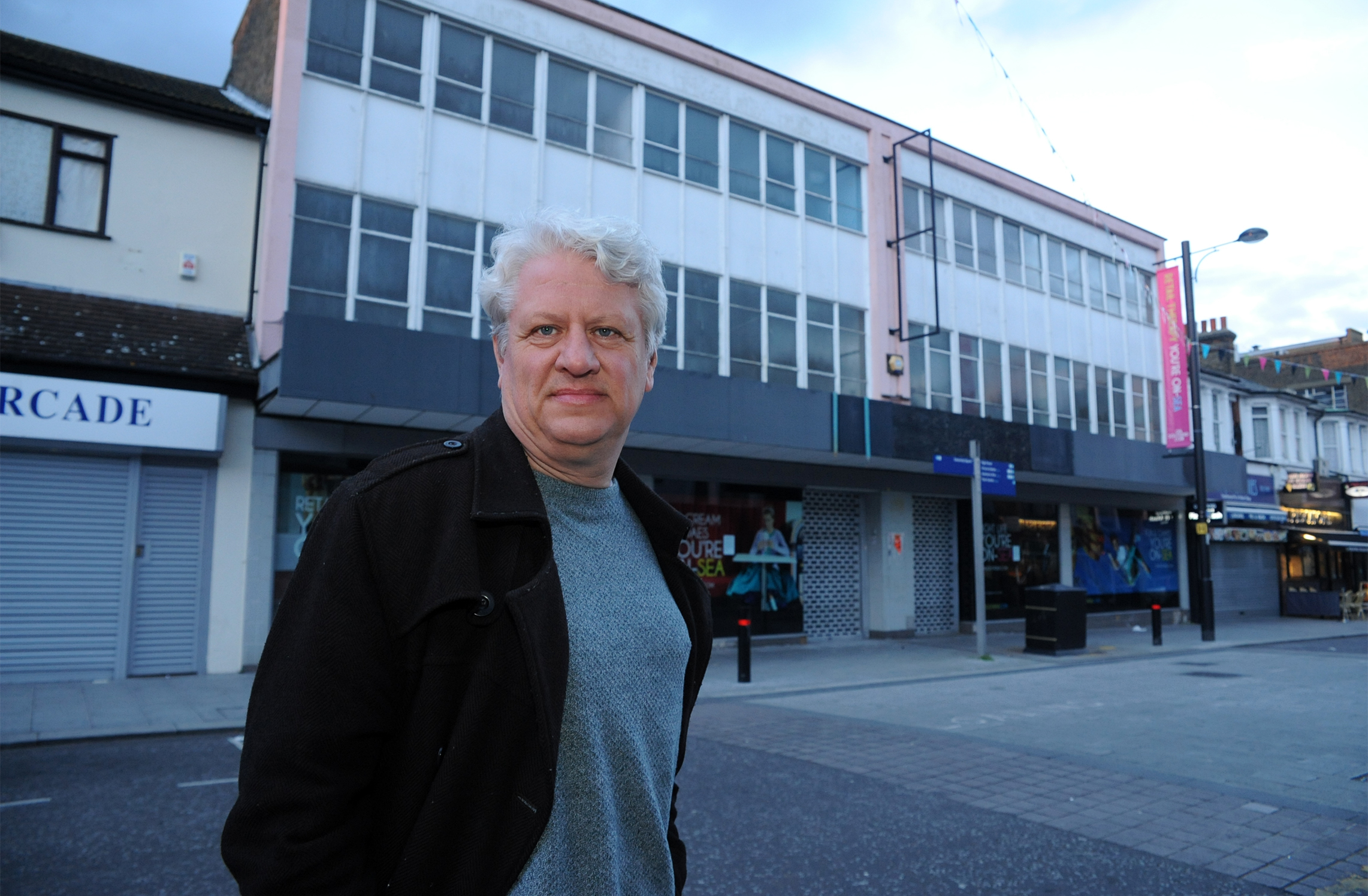 04/03/2016                          Maxine Clarke.Julian Ware-Lane outside the old HMV store Queens rd, Southen Revolution have plans to open a bar.