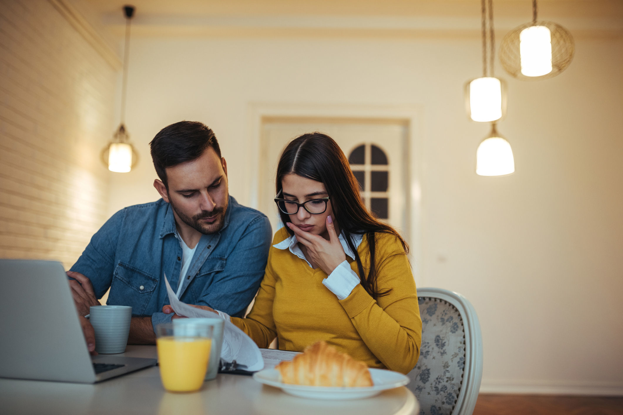 A generic photo of a couple checking their credit score. See PA Feature FINANCE Myths. Picture credit should read: Thinkstock/PA. WARNING: This picture must only be used to accompany PA Feature FINANCE Myths.