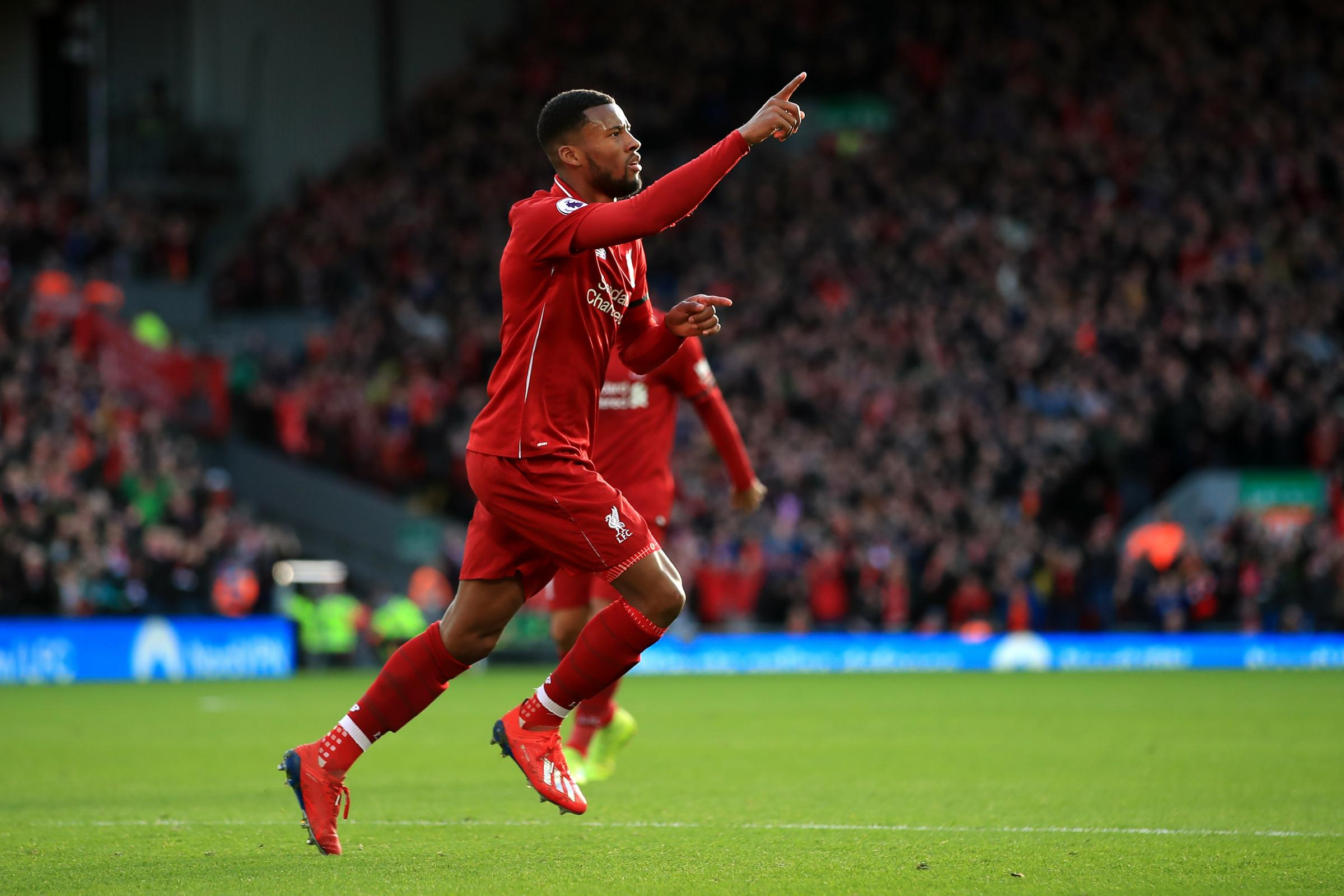 Liverpool midfielder Georginio Wijnaldum defied sickness to play a crucial role in the win over Bournemouth