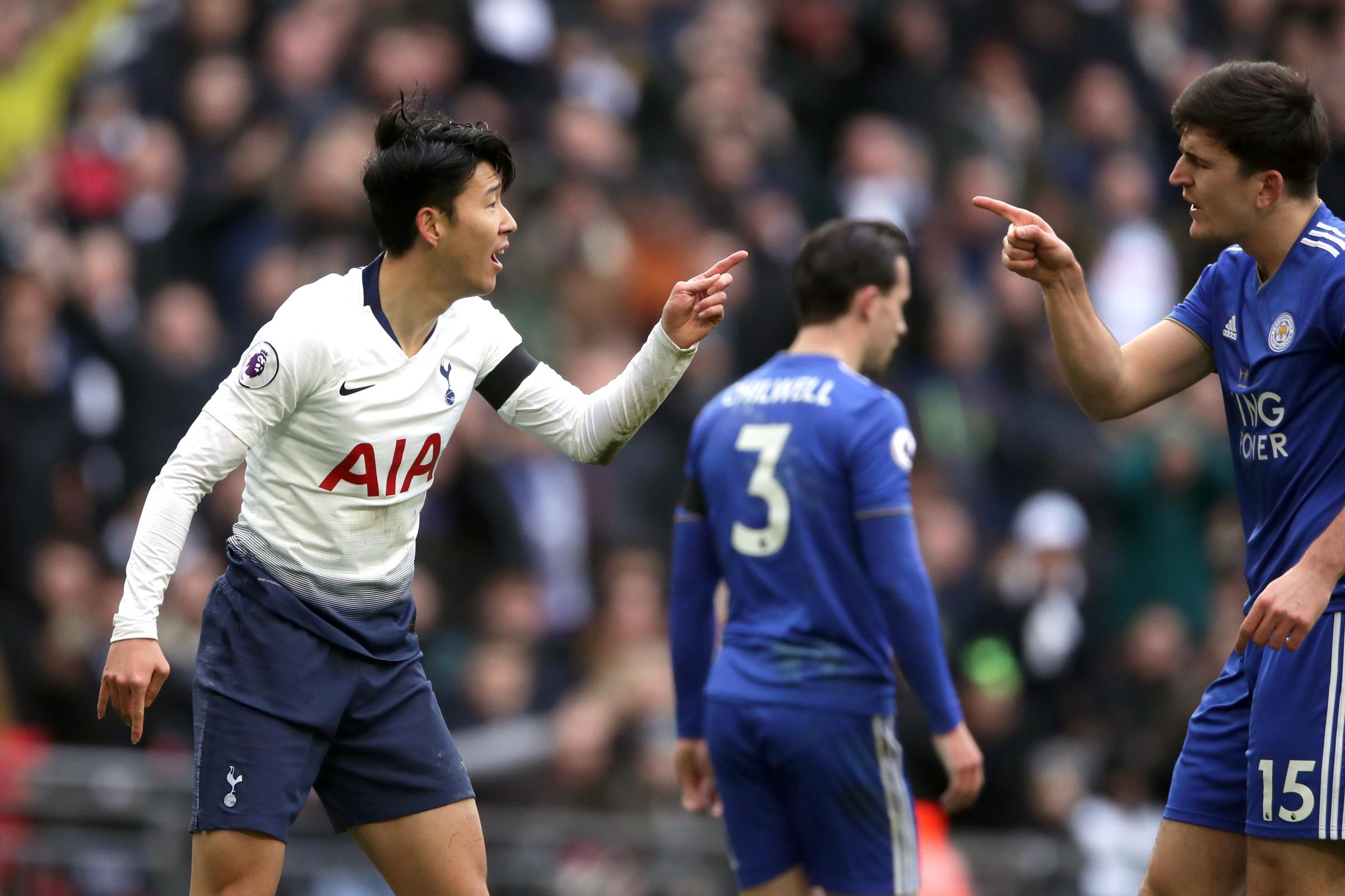Son Heung-min was booked for diving at Wembley