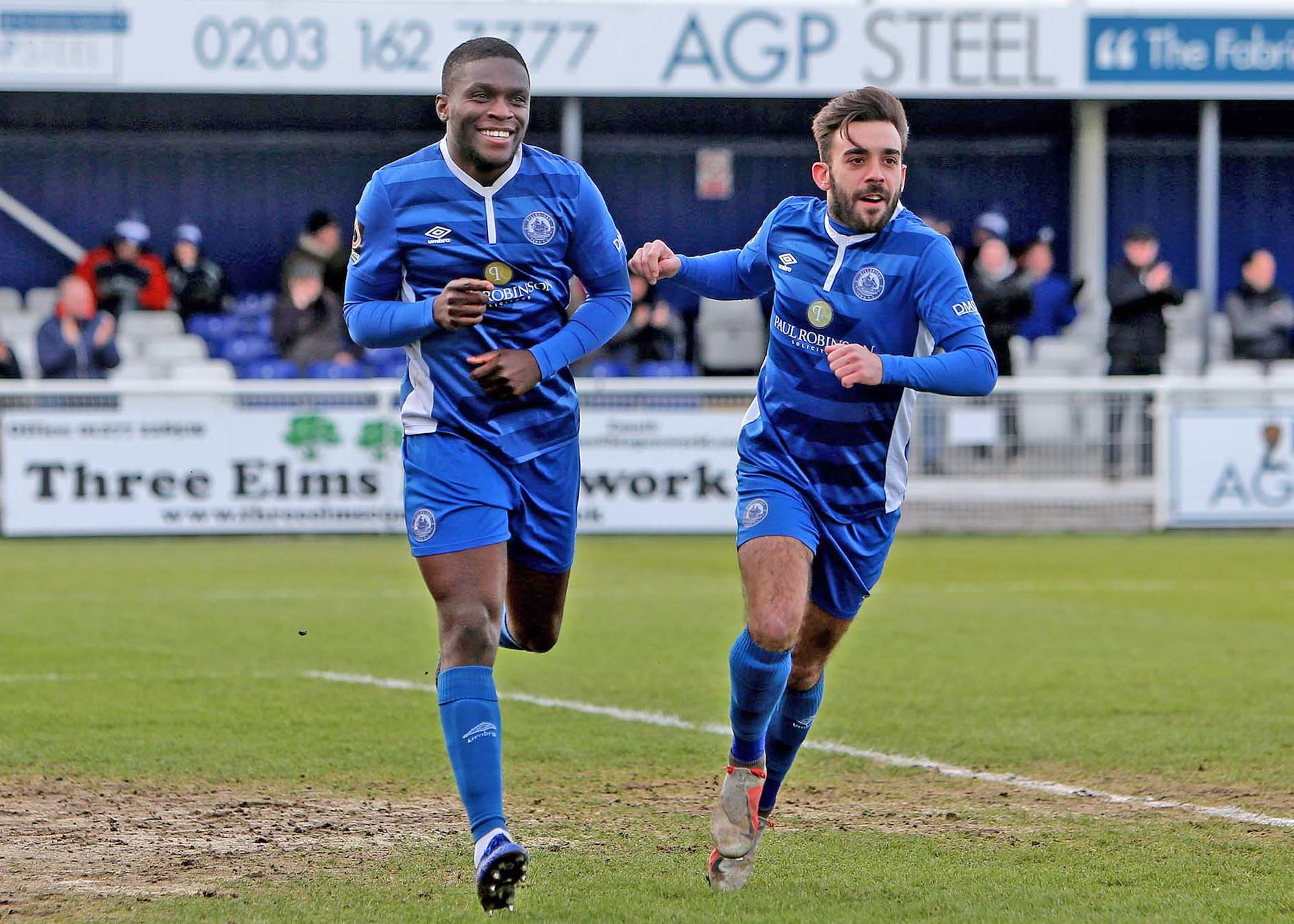 At the double - Moses Emmanuel scored twice for Billericay Town