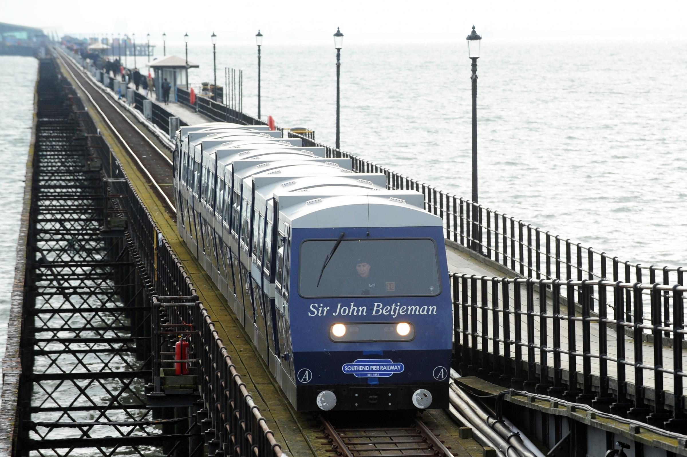 Pier Trains, Southend Pier. Pic LM 19/01/2019.