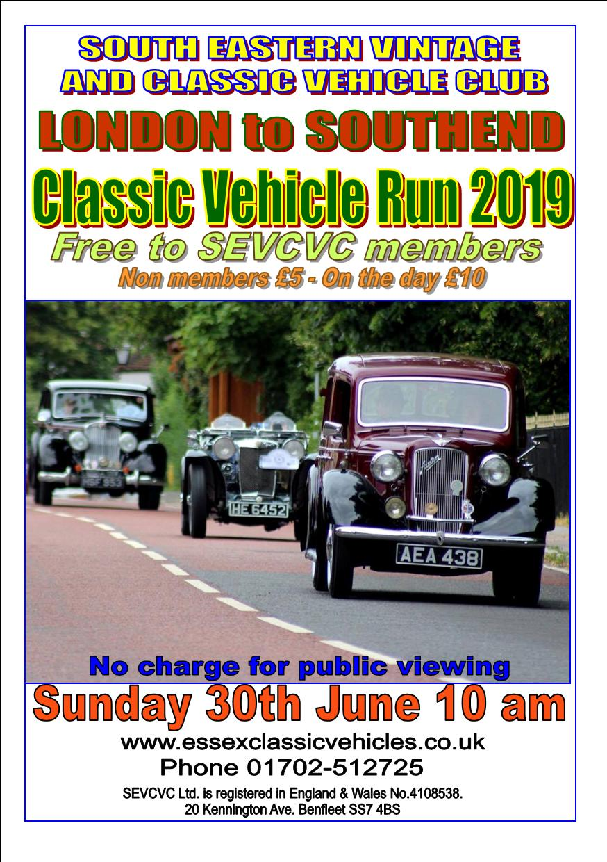 The SEVCVC London to Southend Classic Car Run
