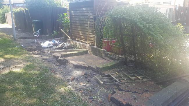 garden wall collapse