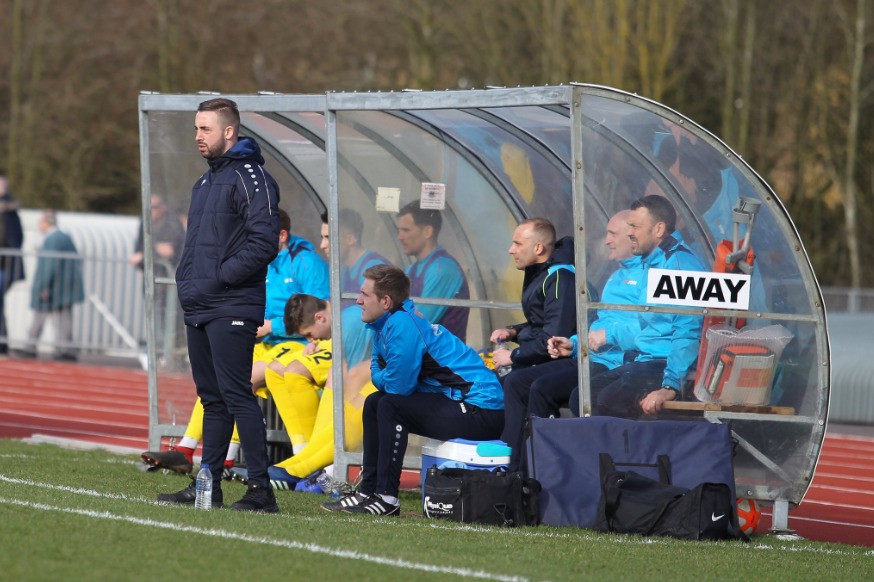 Watching on - Concord Rangers player-manager Sammy Moore Picture: PAUL RAFFETY