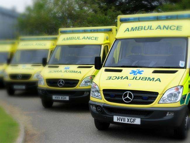 Ambulances. Stock image.