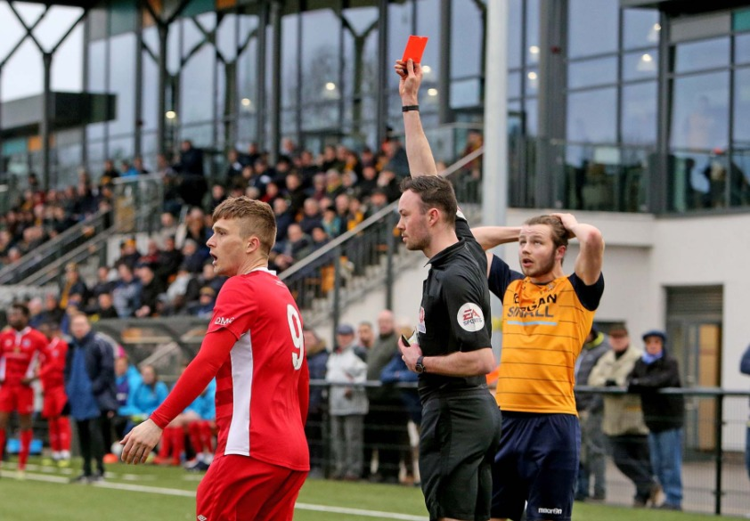 Hoping for a reprieve - Jake Robinson will find out whether his red card has been rescinded today Picture: NICKY HAYES/iCORE LTD