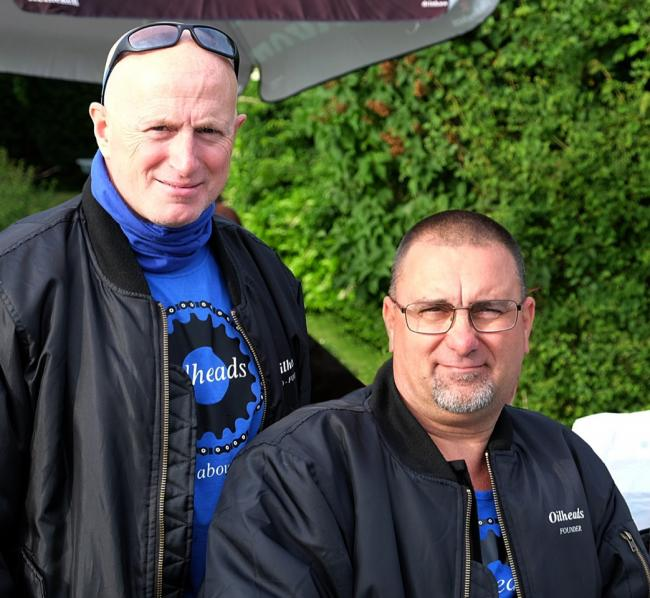 Organisers - Tony Lovegrove (right) and co-founder Paul Oliver