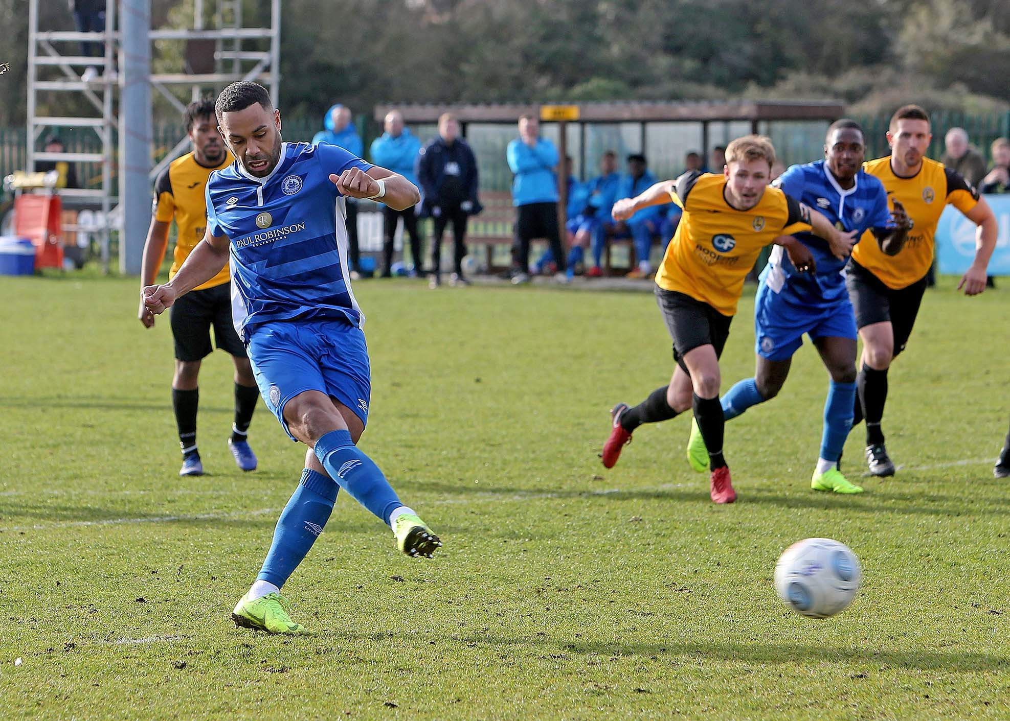 Opened the scoring - Adam Coombes' spot-kick was not enough for Billericay Town Picture: NICKY HAYES/iCORE LTD