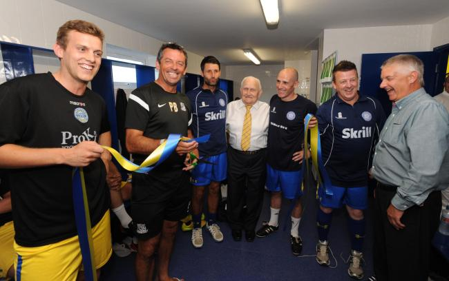 Founder - Concord Rangers will be looking to claim a win in memory of Albert Lant (centre)