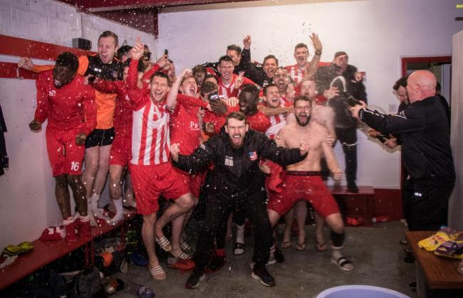 Celebrate - Bowers & Pitsea will get their hands on the title tomorrow Picture: NASH PHOTOGRAPHY