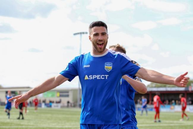 Grabbed the winner - Joan Luque's goal proved decisive as Concord Rangers overcame Eastbourne Borough Picture: PAUL RAFFETY