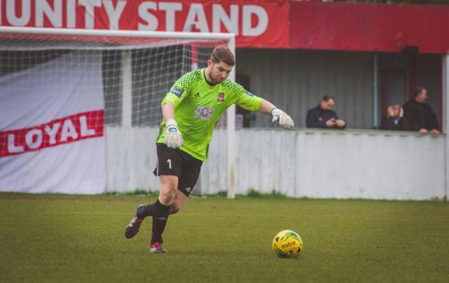 Sealed his return - Callum Chafer is back at Bowers & Pitsea following a spell with Hornchurch 	       Picture: NASH PHOTOGRAPHY