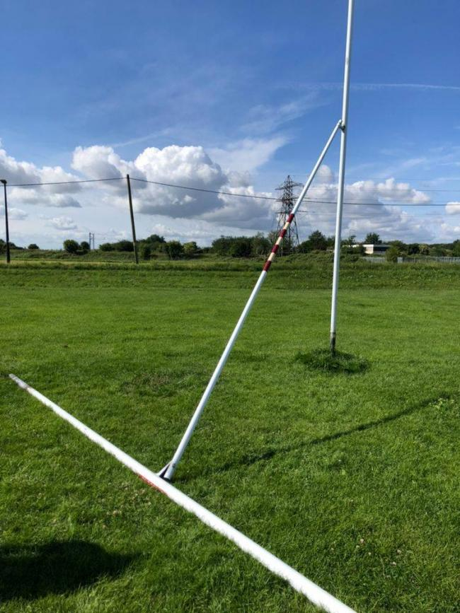 Benfleet Vikings Rugby Club goalpost damage
